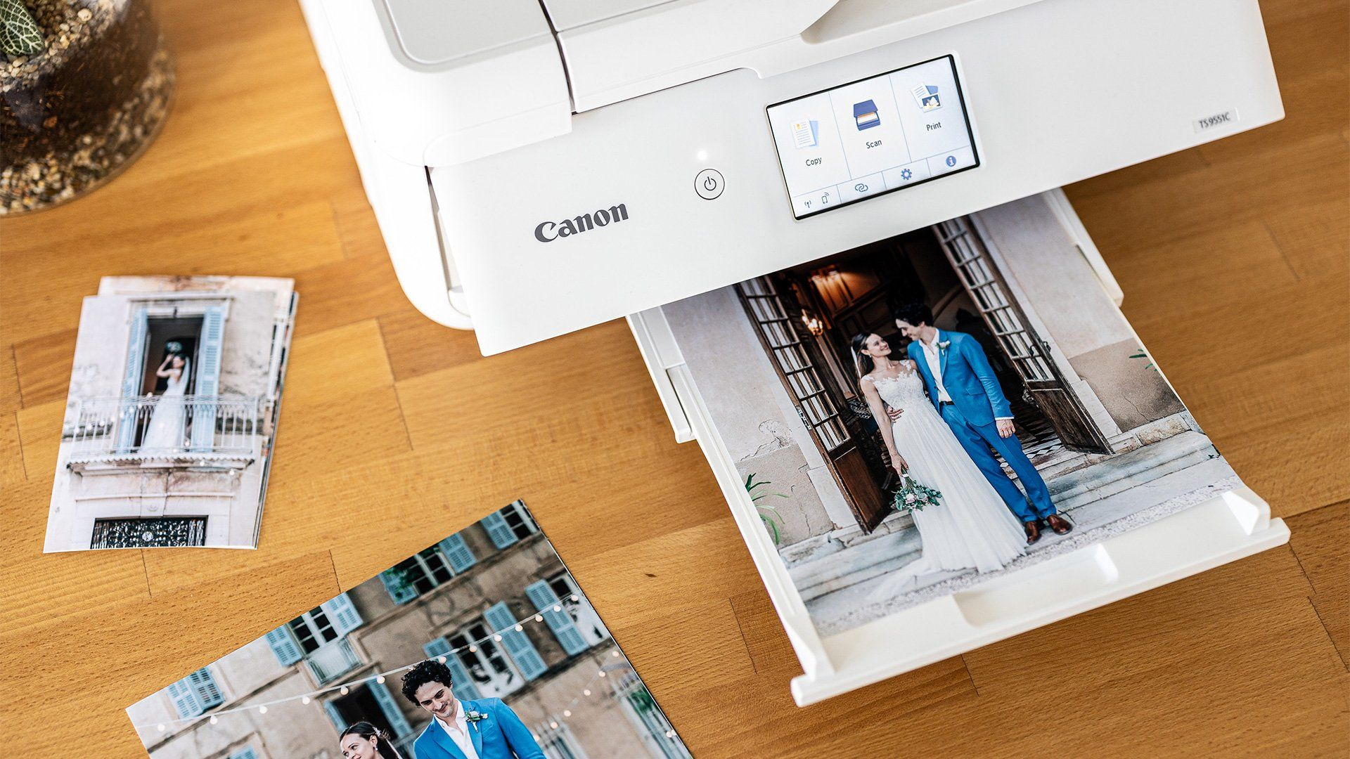 Home printed wedding shots.